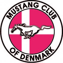 MustangClubDanmark sticker 100 mm.